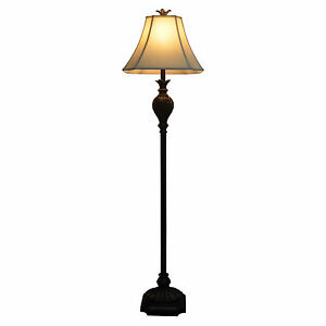 classic dark brown floor lamp traditional antique bronze black ebay. Black Bedroom Furniture Sets. Home Design Ideas