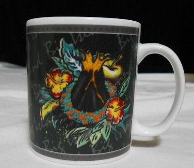 "Hawaiian Hilo Hattie Big Island Floral  Ceramic  Mug 2002  8 oz   3 3/4 """