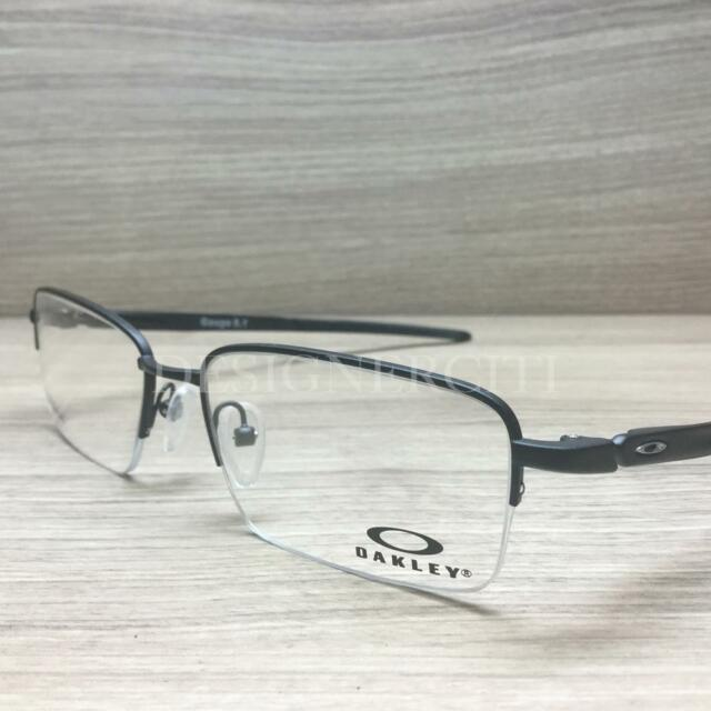 cd1fa569bb Oakley Gauge 5.1 Titanium Eyeglasses Matte Black OX5125-0154 Authentic 54mm