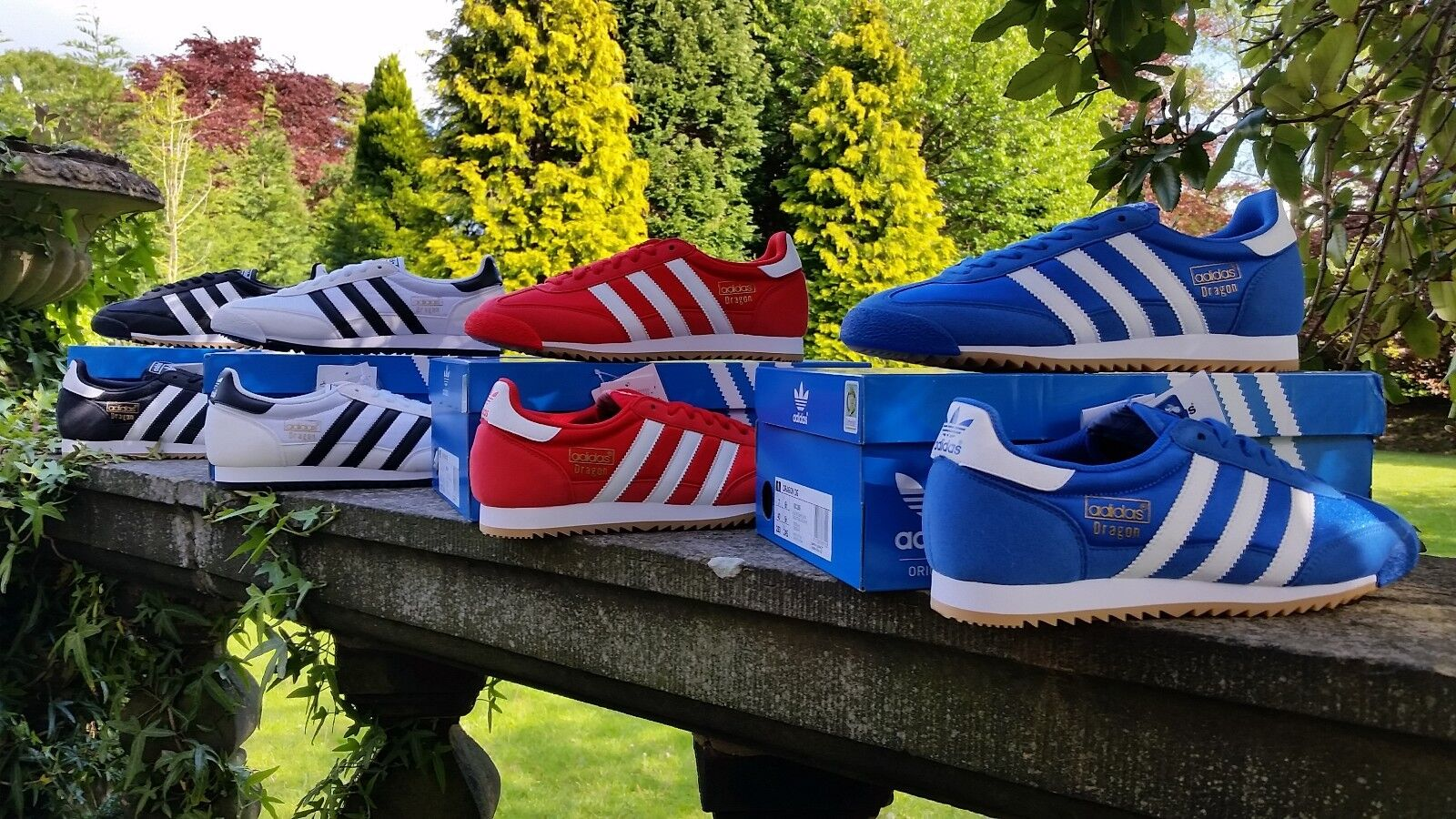 Adidas Originals Para Hombre Dragón Moda tenis Varios Colors BNIBWT Talla UK 6-12