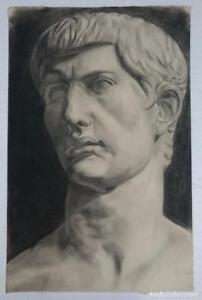 Dibujo-busto-masculino-escultura-clasica-del-autor-Alberto-Duce-Vaquero-Pintado