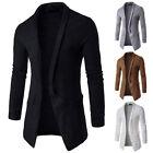 Luxury Men's Knitted Cardigan Long Sleeve Casual Slim Fit Sweater Jacket Coat