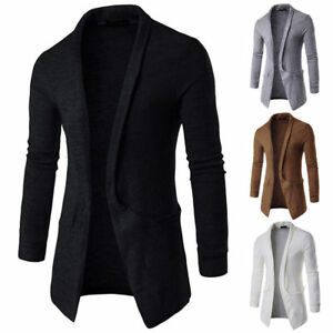 Men-039-s-British-Knitted-Cardigan-Long-Sleeve-Casual-Slim-Fit-Sweater-Jacket-Coat