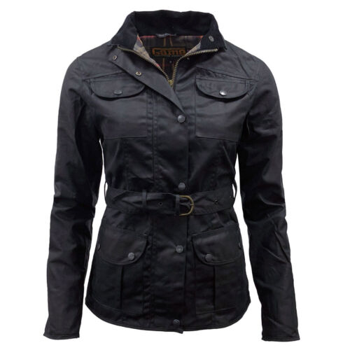 Game Ladies Morgan Antique Wax Jacket with BeltLined Unpadded Waxed Cotton