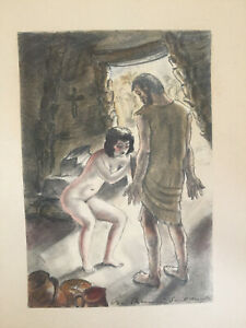 Original-watercolour-signed-berthomme-saint-andre
