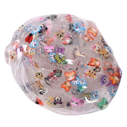 Clear kawai Slime Mignon gâteau aux fruits Papillon Fimo Crystal Mastic Kids Cadeau Amusant Jouet