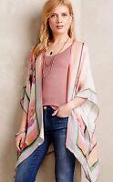 Anthropologies Blank Tropical Floral Kimono One Size Petite