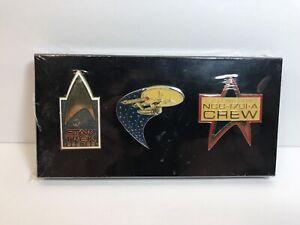 Star Trek 25th Anniversary Collectors Pins 1966-1991 Set of 3 - Unopened/Sealed