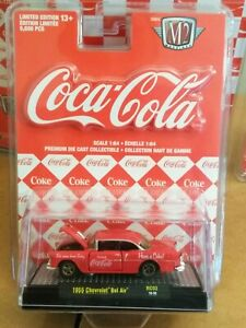 M2-MACHINES-Scale-1-64-COCA-COLA-1955-CHEVROLET-BEL-AIR-New-in-box