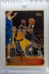1996-96-TOPPS-Kobe-Bryant-ROOKIE-RC-138-Los-Angeles-Lakers-Black-Mamba-Sharp