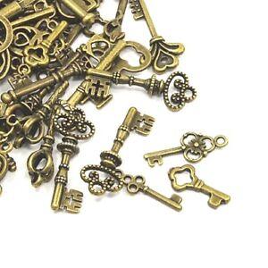 30g Antik Bronze Tibetanische 5-40mm Schlüssel Charme/Anhänger ...