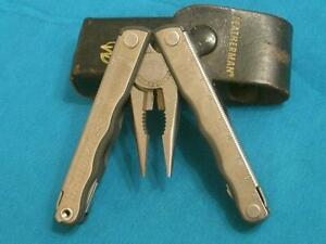 LEATHERMAN KICK FOLDING MULTI PLIER PLIERS TOOL TOOLS KNIFE KNIVES POCKET SHEATH