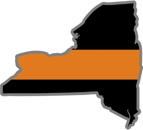 """5/"""" New York NY State Thin ORANGE Line Search and Rescue SAR Decal Sticker"""