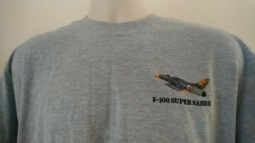 USAF UNITED STATES AIR FORCE NORTH AMERICAN F-100 SUPER SABRE T-SHIRT