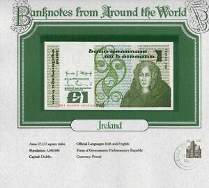 World Banknotes Ireland 10-07-1984 1 pound UNC P 70c UNC Low DKI 003963