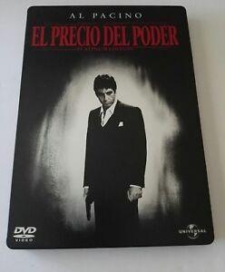 Scarface-Steelbook-El-precio-del-poder-DVD-Platinum-Edition-2-discs-Rare