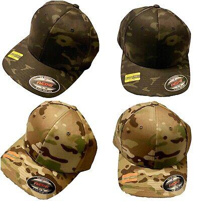 NEW FLEXIFIT BASEBALL CAPS L FLEXFIT  PEAK FITTED CAMOUFLAGE HATS XL S M