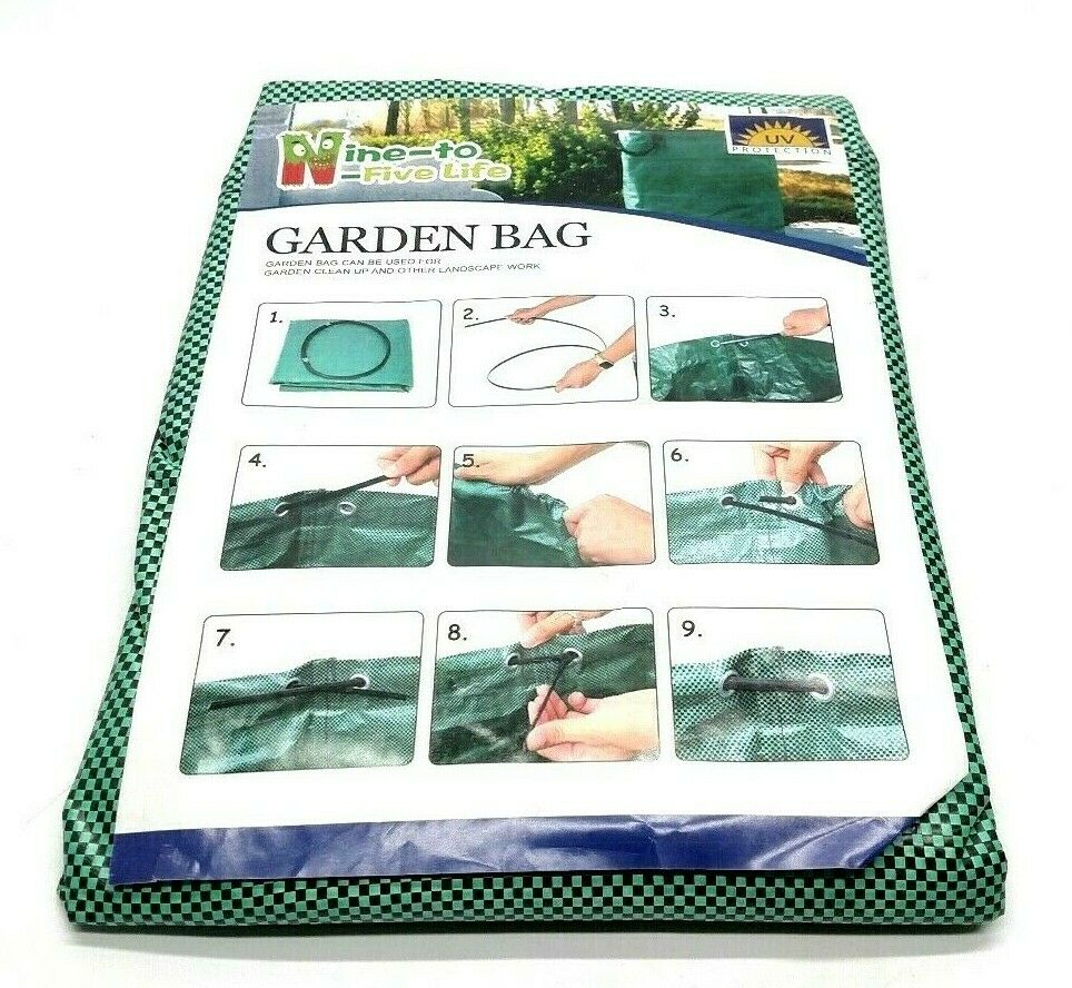 Garden Bag Landscaping Clean Up Yard Container Nine To Five Life Green