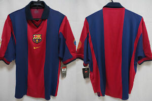 finest selection aada7 f5673 Details about 2000-2001 FC Barcelona Barca FCB Centenary Jersey Shirt Home  Camiseta Nike L NWT