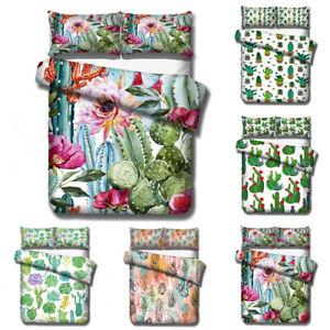 3D-Cactus-Painting-Bedding-Set-Duvet-Cover-Pillowcase-Comforter-Quilt-Cover