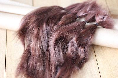 "Mohair Doll Hair color alder 8-12/"" in 0.35 oz locks angora DIY baby reborn"