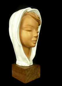 Paul Serste Scultura Di Giovane Donna Velato Muslim Maiden Orientalismo Maghreb