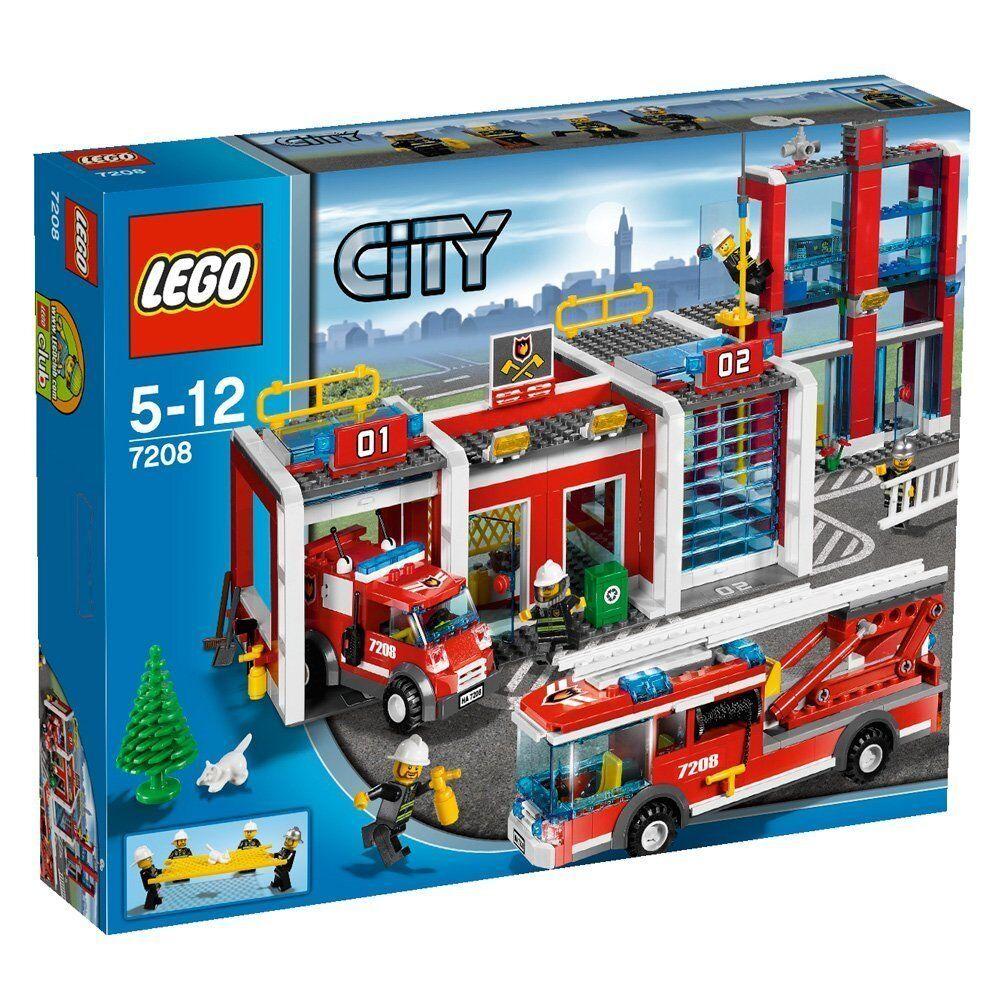 LEGO 7208 LEGO CITY CASERMA DEI POMPIERI FIRE STATION STATION STATION NUOVO SCATOLA SIGILLATA e9a27f