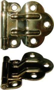 Brass Hinge Brass McDougall Style Fold Back CABINET HINGE with 38 Offset-McDougall Cabinet Hinge