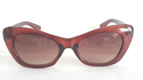 Cat Eye Sonnenbrille Kult 50er Jahre Rockabilly braun Damen 283