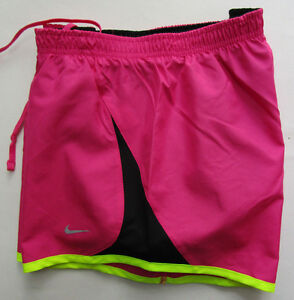 Details about Women's NIke Running Short, New Pink Black Neon Green Style 573728 Sport Short S