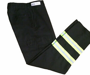 Red Kap Reflective Men's Enhanced Visibility Black Cargo Uniform Pants PT88BK