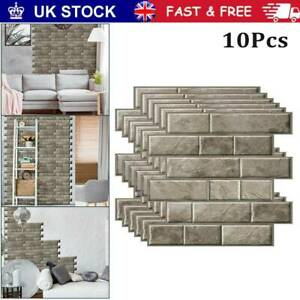 3d Self Adhesive Kitchen Wall Tiles Bathroom Mosaic Brick Stickers Peel Stick Uk Ebay