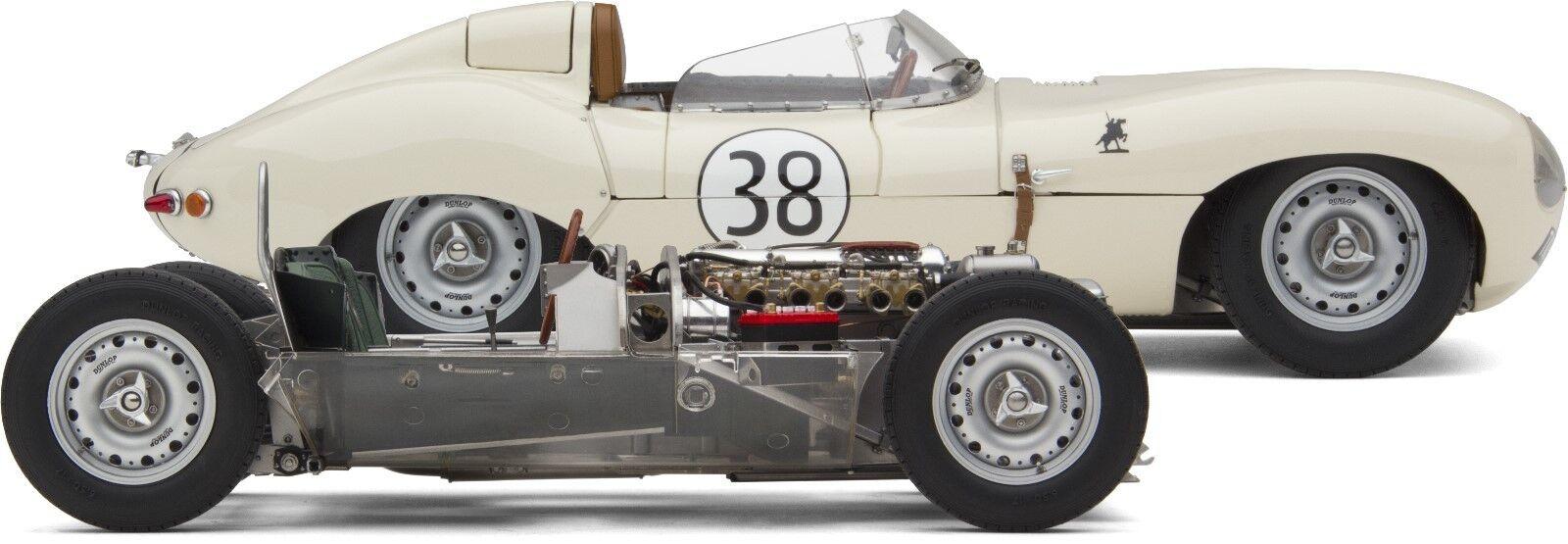 Exoto XS 1 18 Jim Clark 1958 Jaguar Tipo D & Rodar Chasis  Bnd22084