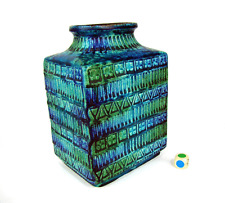 Vecchio Bay Keramik VASO Turchese-Blu Design Bodo Mans Londi-Bitossi era VINTAGE