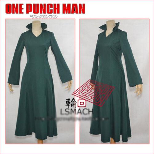 One Punch Man Wanpanman Fubuki Cosplay Costume Summer Green Dress Free Shipping