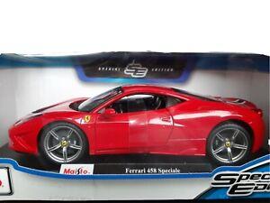 Ferrari-458-Speciale-Maisto-Special-Edition-Diecast-Coche-Modelo-1-18-en-caja