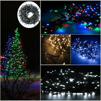 200/300/400Led 20M/30M/50M Green Lead Fairy String Light Hanging Tree Fence Wall