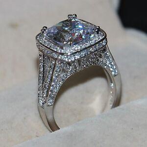 image is loading eternity jewelry 10ct diamonique cz 14kt white gold - Diamonique Wedding Rings