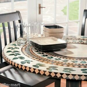 Mosaic Tile Elastic Fitted Vinyl Outdoor 48 Quot Round Patio