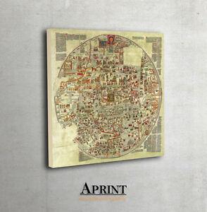 Ancient ebstorf world map archival fine art print mappa mundi map la imagen se est cargando antiguo ebstorf mapa del mundo fino de archivo gumiabroncs Choice Image