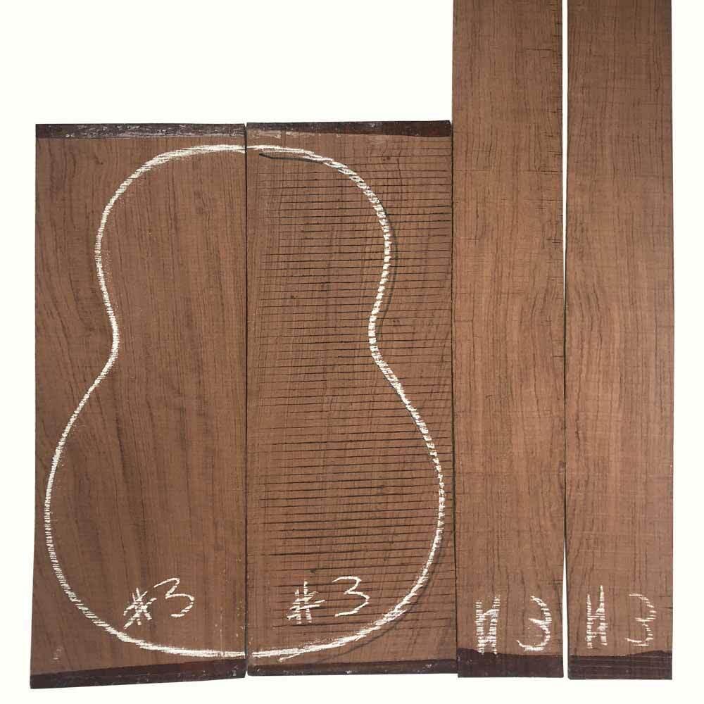 Gitarre Hinten Seite Klassischer Bubinga Palisanderholz Set  03 Gitarrenbauer