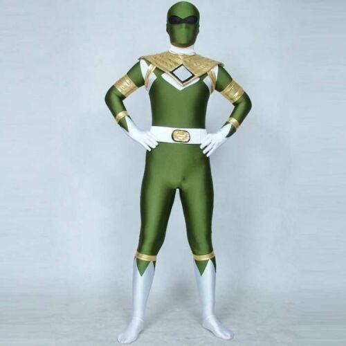 Boy Kids Mighty Morphin Team Game Cosplay Costume Zentai Bodysuit Fancy Dress