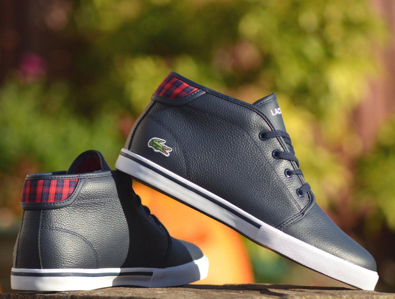 Lacoste Ampthill Zapatillas para mujer botas al Tobillo Azul Marino  B-grados  Nuevo