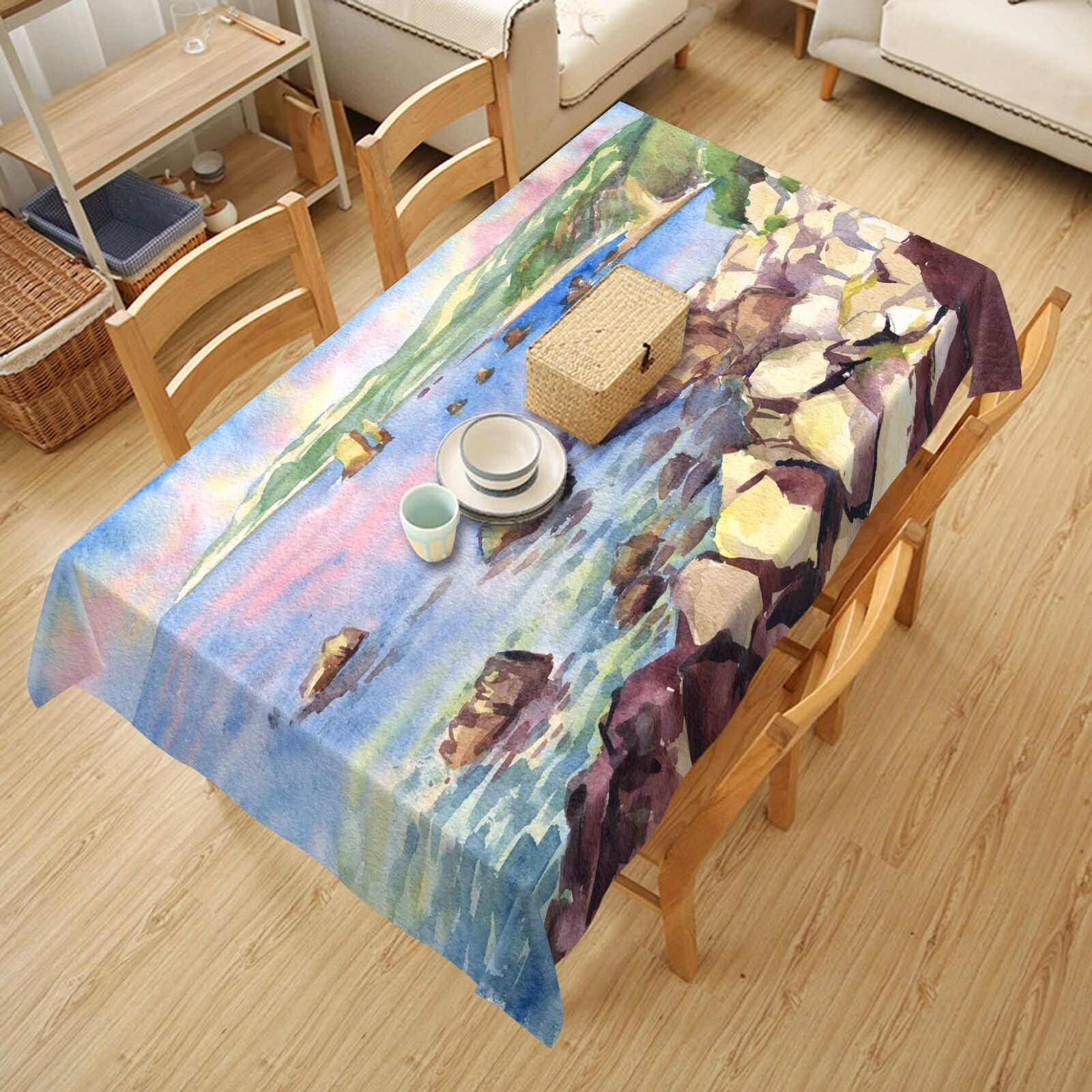 3D River sky97 Tablecloth Table Cover Cloth Birthday Party Event AJ WALLPAPER UK