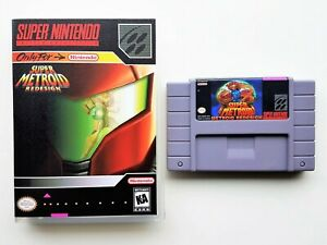 Super-Metroid-Redesign-Game-Case-Fan-Made-SNES-Super-Nintendo-USA-Seller
