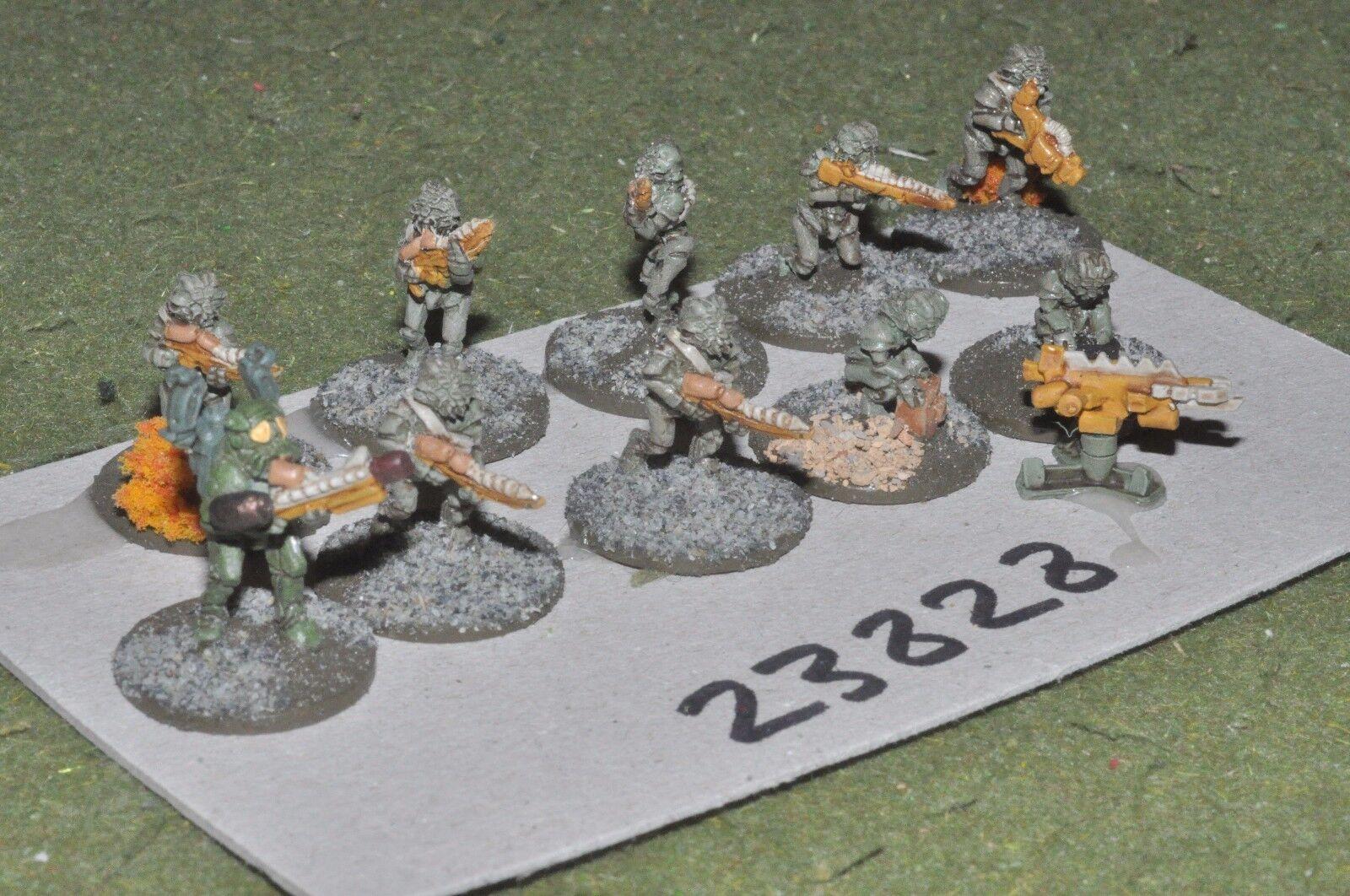 15mm scifi   lizard - combat team 10 figures - inf (23828)