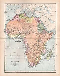 1875 Antique Map Africa Ebay