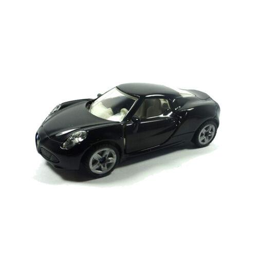 Blister Modellauto NEU!° Siku 1451 Alfa Romeo 4C Roadster schwarz Maßstab 1:55