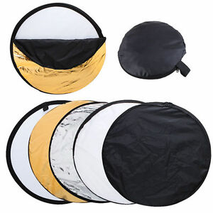 5 in1 Light Mulit Collapsible disc for photography Panel Reflector case 60cm