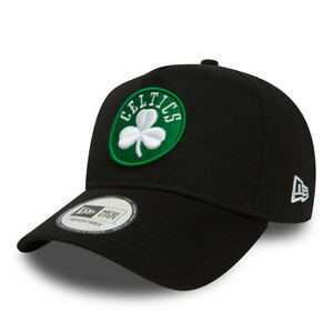 NEW ERA MENS BOSTON CELTICS BASEBALL CAP.9 FORTY NBA A FRAME BLACK ... b0c8a1dcbd6